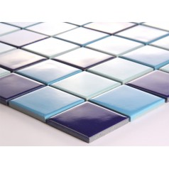 Porcelain Square Mosaic Tiles Wall Design Ceramic Swimming Pool Kitchen Backsplash DTC005