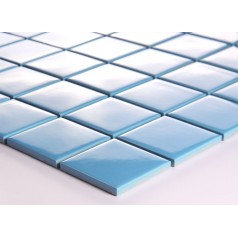 Blue Porcelain Square Mosaic Tiles Wall Design Ceramic Tile flooring Kitchen Backsplash DTC006