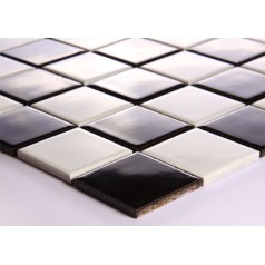 Black and White Porcelain Square Mosaic Tiles Design Ceramic Tile Walls Kitchen Backsplash DTC007
