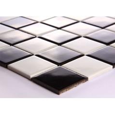 Black and White Porcelain Square Mosaic Tiles Design Ceramic Tile Walls Kitchen Backsplash DTC007