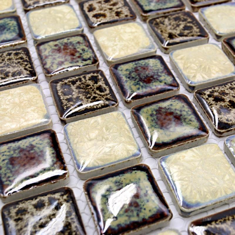 Italian Porcelain Tile Square Mosaic Bathroom Shower Tile