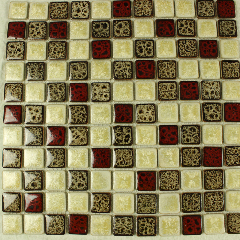 Ceramic Tile Apartment Design: Italian Porcelain Square Mosaic Tiles Designs Glazed