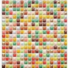 Glazed Porcelain Square Mosaic Tiles Design Iridescent Tile Flooring Kitchen Backsplash MZ24-1