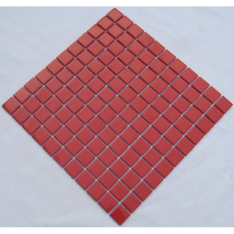 Red Floor Tiles Kitchen: Glazed Porcelain Square Mosaic Tiles Design Red Ceramic