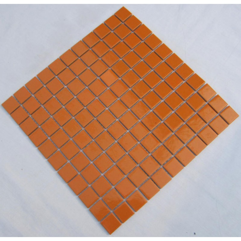 Kitchen Backsplash Orange porcelain square mosaic tiles design orange ceramic tile swimming