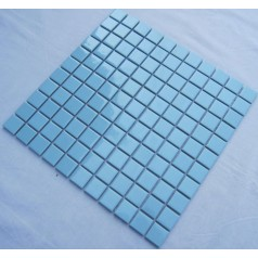 Glazed Porcelain Square Mosaic Tiles Design Blue Ceramic Tile Swimming Pool Flooring Kitchen Backsplash TC-011