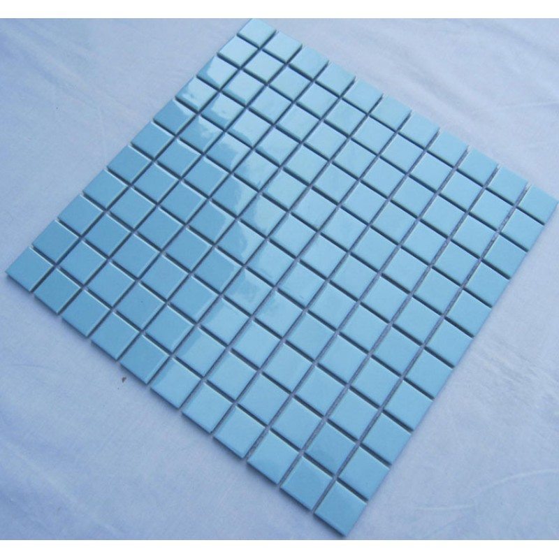 Glazed Porcelain Square Mosaic Tiles Design Blue Ceramic Tile