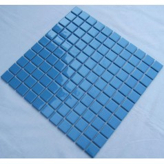 Glazed Porcelain Square Mosaic Tiles Design Blue Ceramic Tile Swimming Pool Flooring Kitchen Backsplash TC-012