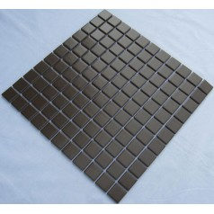 Glazed Porcelain Square Mosaic Tiles Design Black Ceramic Tile Swimming Pool Flooring Kitchen Backsplash TC-013