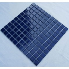 Glazed Porcelain Square Mosaic Tiles Design Blue Ceramic Tile Swimming Pool Flooring Kitchen Backsplash TC-014