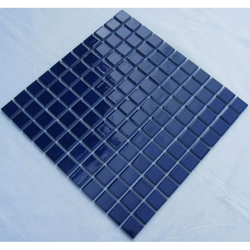 Glazed Porcelain Square Mosaic Tiles Design Blue Ceramic