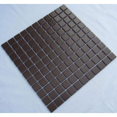 Glazed Porcelain Square Mosaic Tiles Design Black Ceramic Tile Swimming Pool Flooring Kitchen Backsplash TC-015