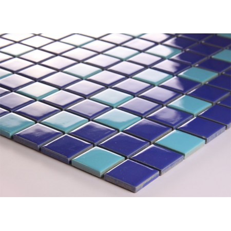 Glazed porcelain square mosaic tiles wall designs ceramic for Swimming pool ceramic tile
