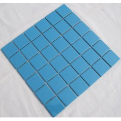 Glazed Porcelain Blue Mosaic Tiles Wall 48mm Ceramic Tile Brick Kitchen Backsplash TC48-002