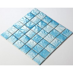Glazed Porcelain Square Mosaic Tiles Wall 48mm Ceramic Tile Brick Kitchen Backsplash TC48004