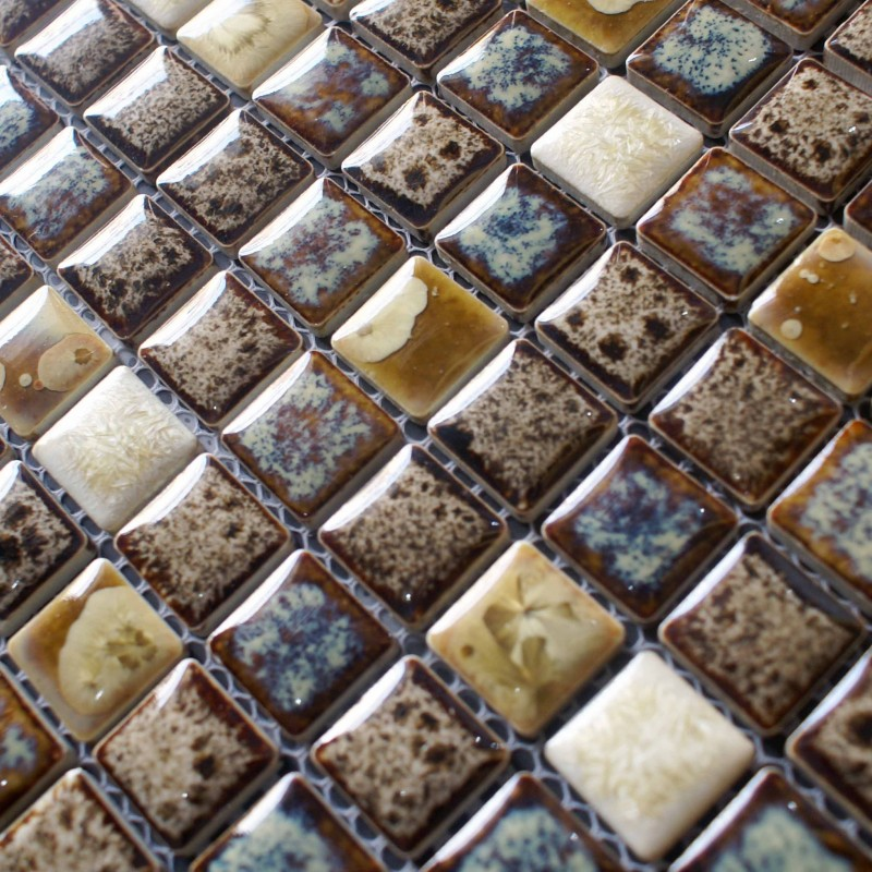 porcelain square mosaic tiles design snowflake style kitchen backsplash wall stickers tiles adt74 - Mosaic Tiles