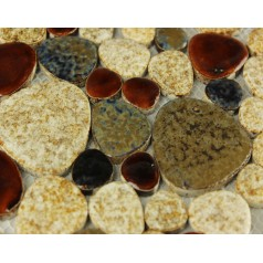 Wholesales Porcelain Pebble Mosaic Tiles Design porcelain tile flooring Kitchen Backsplash  AB08