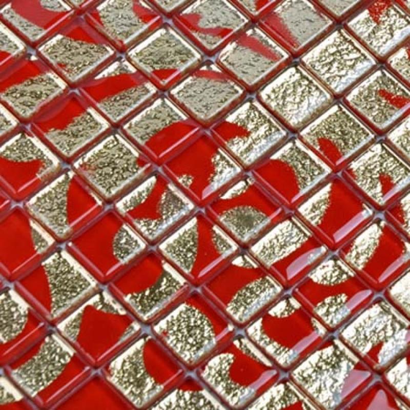 Red Glass Tile Kitchen Backsplash glass tile red puzzle mosaic tile murals crystal backsplash