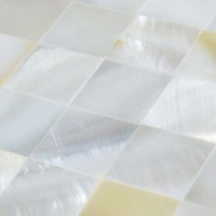 Square White Shell Mosaic Seamless Mesh Mounted Mother of Pearl Tile for Bathroom Wall Mirror Tiles