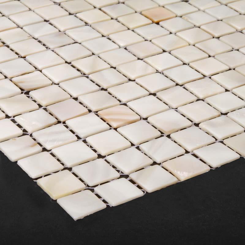 ... Mother Of Pearl Tiles For Bathroom Liner Wall Square Shell Tile Kitchen  Backsplash Seashell Mosaic ...