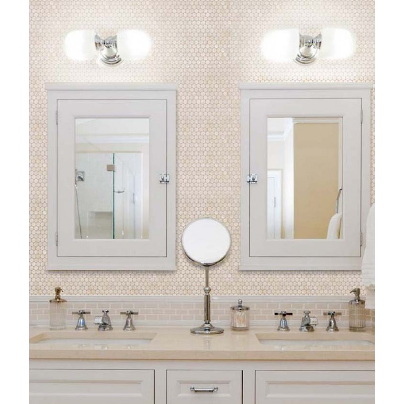 White Mother Of Pearl Tile Bathroom Wall Mirror Tiles Penny Round S Mosaic Shower
