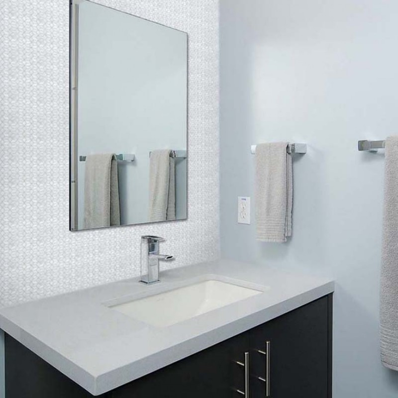 mirrored bathroom wall tiles white shell tiles of 19520