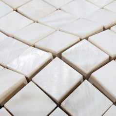 Shell Tiles Kitchen Backsplash Tile Square Mother of Pearl Mosaic Fresh Water Seashell Bathroom Deco