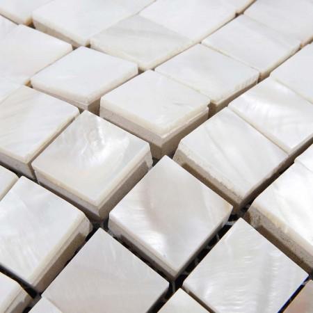 Shell Tiles Kitchen Ideas Backsplash Tile Design Square Mother of Pearl Mosaic Shower Floor Sticker