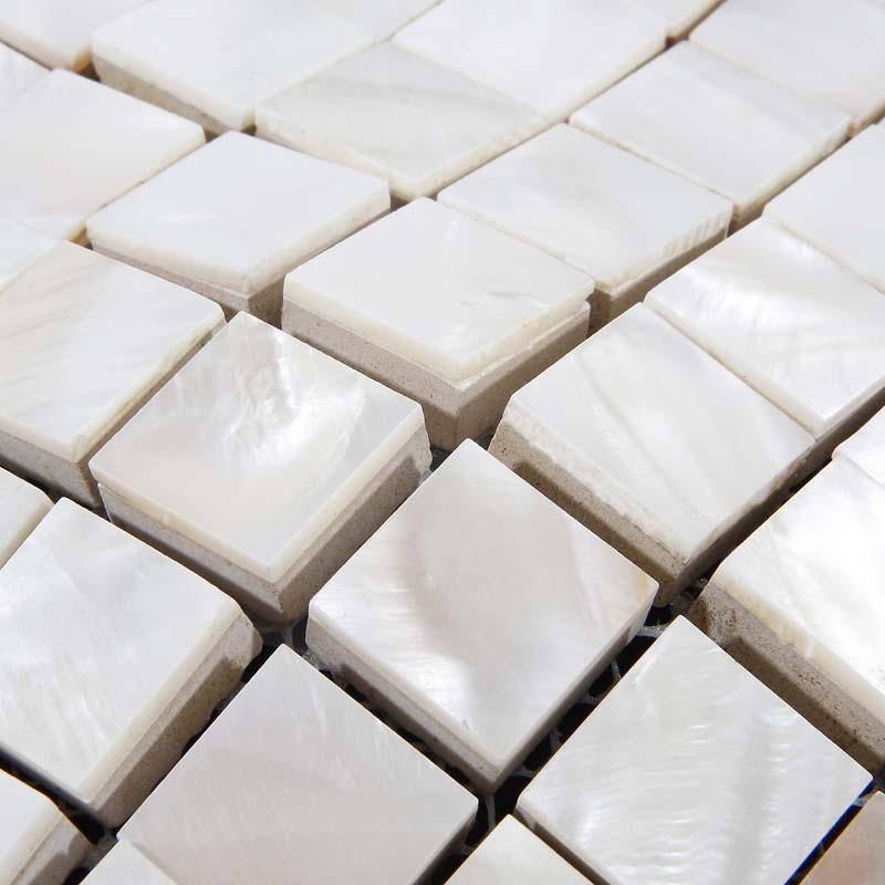 Shell Tiles Kitchen Backsplash Ideas Mother Of Pearl
