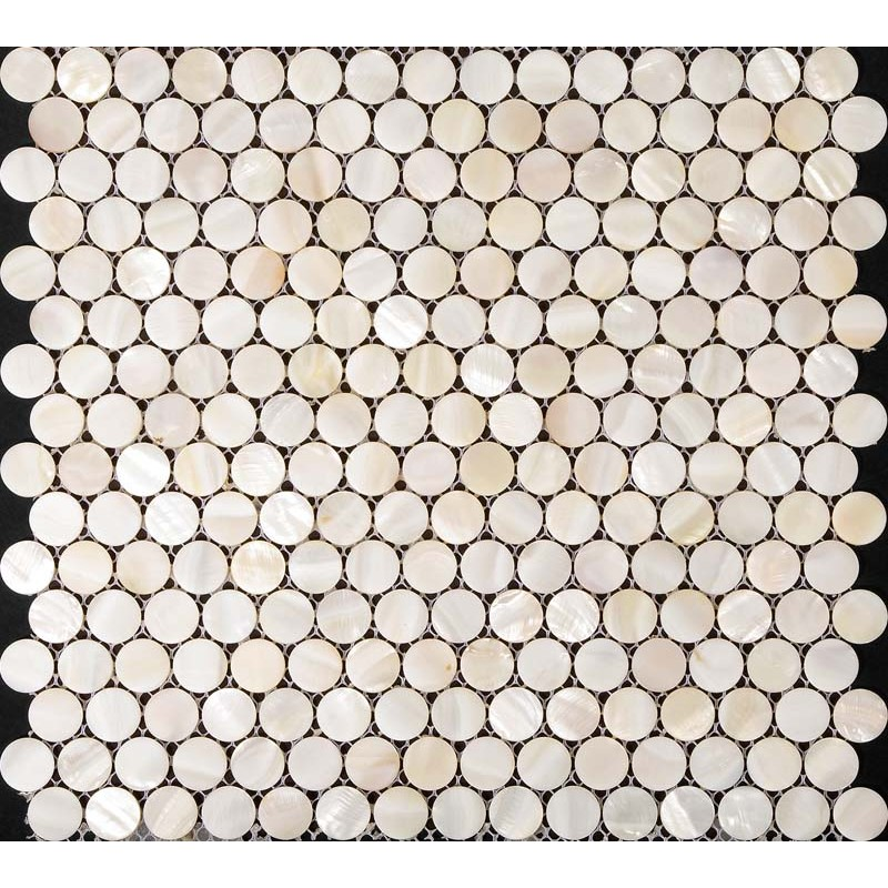 ... White Mother Of Pearl Tile Bathroom Wall Mirror Tiles Penny Round Shell  Mosaic Tile Shower Wall ...