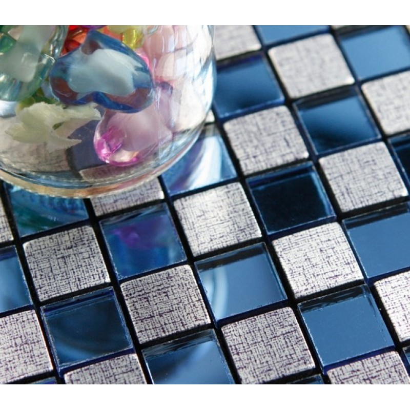 Peel And Stick Tile Square Metal Wall Decoration Adhsive Mosaic