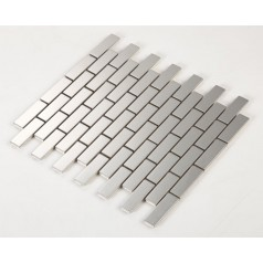 Stainless Steel Tile with Base Kitchen Backsplash Subway Metal Wall Tile Silver Mosaic Cheap Subway Tiles HC3