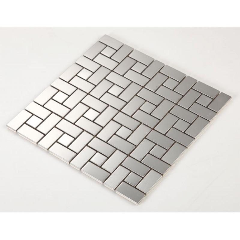 Stainless Steel Tile With Base Kitchen Backsplash Grid Metal Wall Tile  Silver Mosaic Cheap Subway Tiles HC4