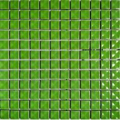 """Porcelain Mosaic Glossy Tile 3D Pinwheel Patterns 7/8"""" Green Ceramic Tiles Backsplash"""
