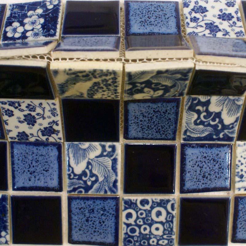 Porcelain pool tiles floor blue and white tile square for Floor and decor porcelain tile