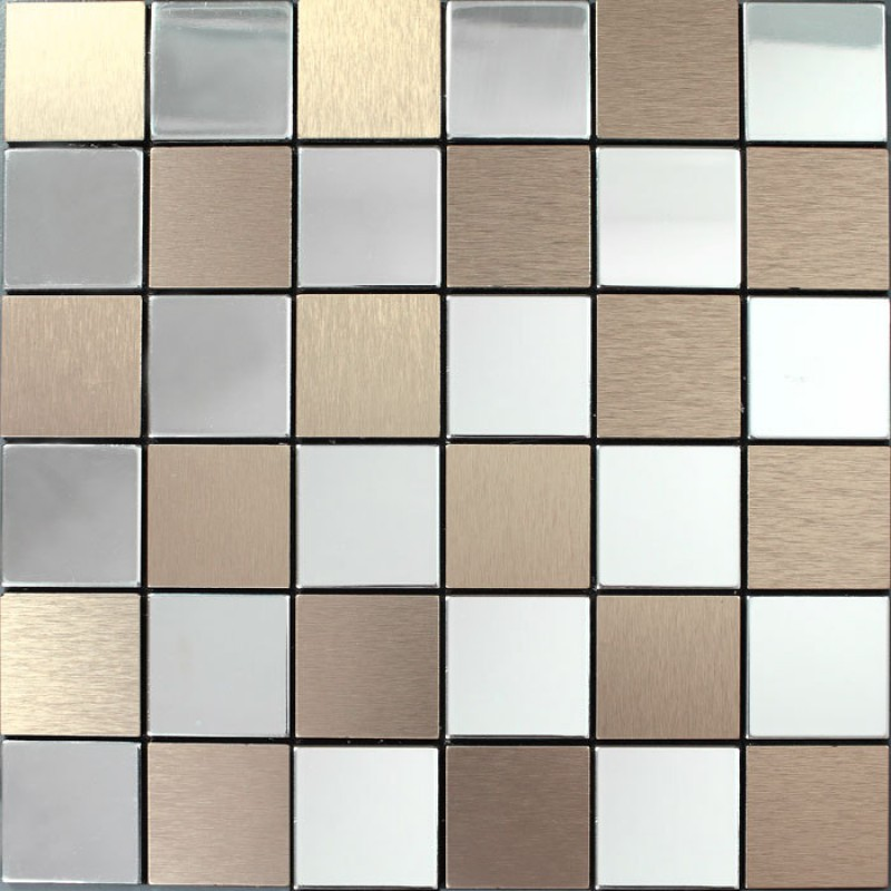 metal tile backsplash kitchen stainless steel tiles square metallic