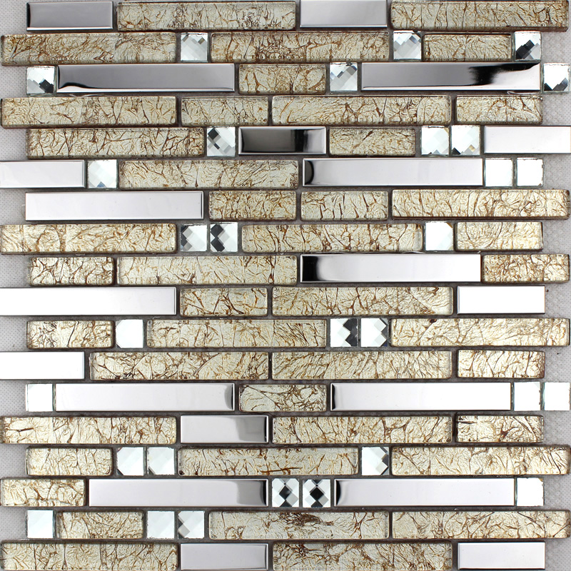 stainless steel wall tiles clear crystal diamond glass mosaic tile