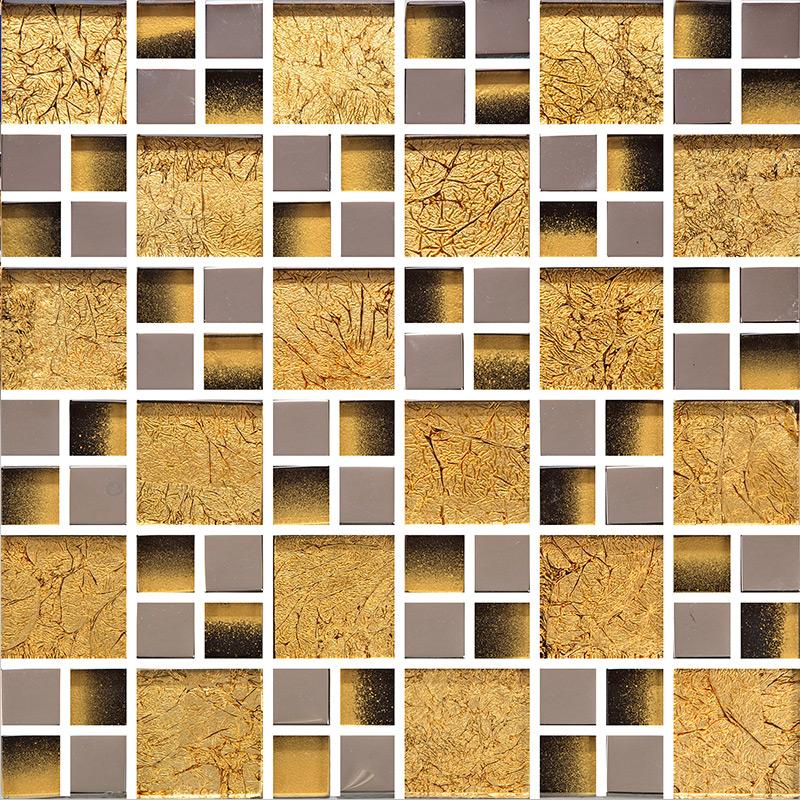 Yellow Mosaic Tile Backsplash: Yellow Crystal Glass Tile Wall Backsplashes Tile TV