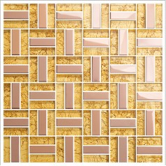 yellow crystal glass tiles metal tile rose stainless steel mosaic kitchen backsplash wall tiles kitchen KLGT401