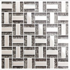 silver stainless steel tile bathroom shower wall deco kitchen backsplash crystal glass tiles KLGT4010