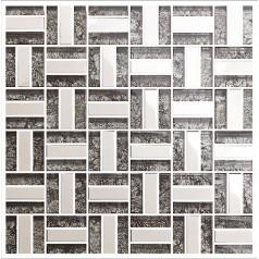 silver stainless steel tile bathroom shower wall deco kitchen backsplash crystal glass tiles KLGT4010