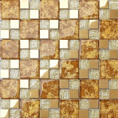 crystal glass mosaic gold metal tiles stainless steel backsplash design wall tile hall backsplashes stainless steel KLGTJ02