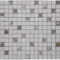 "Stone Mosaic Wall Backsplash For Bathroom 4/5"" Freshwater Shell Mother Of Pearl Tile"