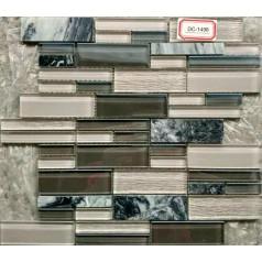 Glass Tile Backsplash Marble Mosaic Bathroom Random Brick Interior Stone Wall Design