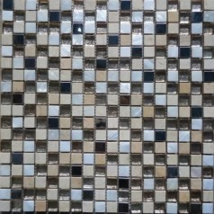 "Stone Backsplash Tile 3/5"" Metal Glass Shower Mosaic Tile Mother Of Pearl Wall Decor"