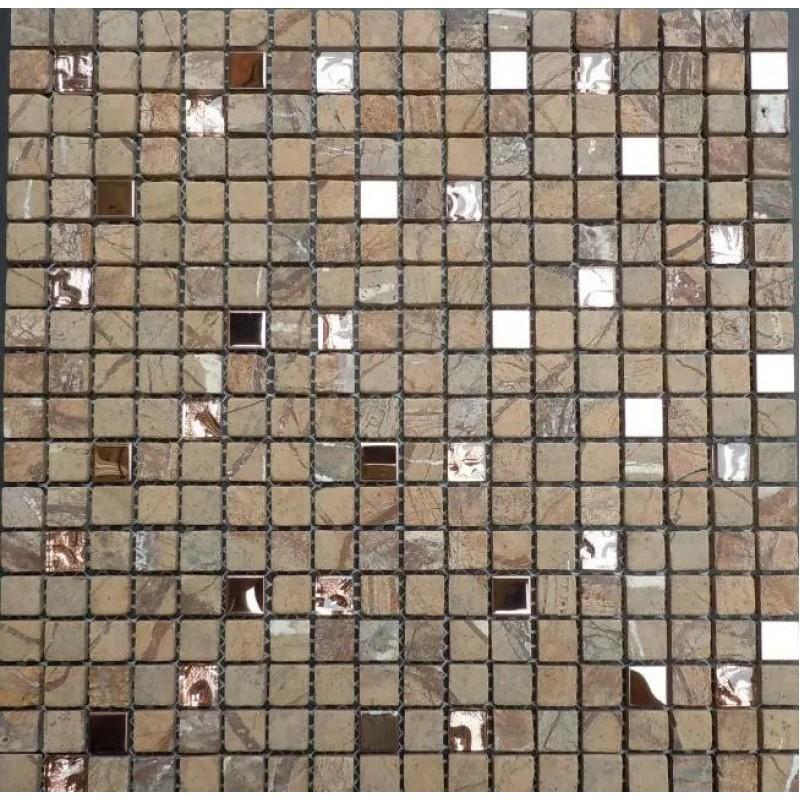 Stone Glass Mosaic Mirror Tile