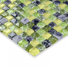 Glass stone mosaic tile crackle glass mosaic glass wall tile kitchen mosaic tiles HM0003