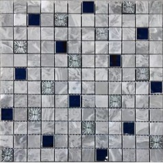 "Stone Mosaic Backsplash 7/8"" Metal Brick Patterns Designs Kitchen Tiles Wall"
