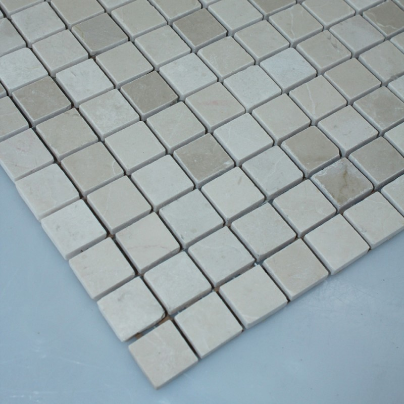 Mirrored Backsplash Tiles Stone Mosaic Tile Square Grey Pattern Washroom Wall Marble ...