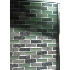 Frosted Glass Backsplash In Kitchen Grey Stone Subway Tiles Wall Design For Bathroom